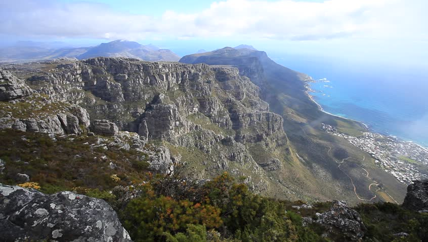 Aerial view of camps bay and lions head from the top of for Landscaping rocks cape town