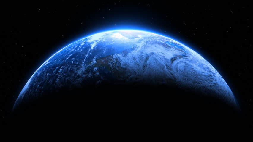 Planet Earth Dramatic Full Frame Loop With Stars - Maps ...