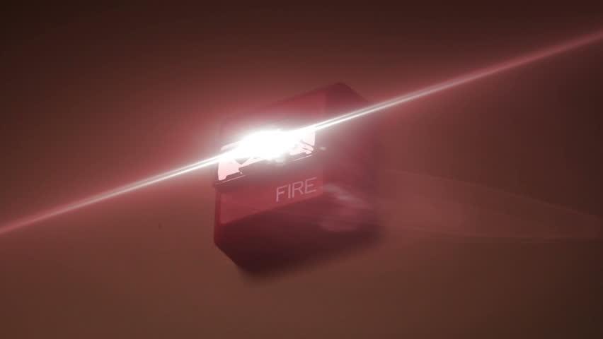 fire alarm flashing stock footage video 6052988 shutterstock. Black Bedroom Furniture Sets. Home Design Ideas