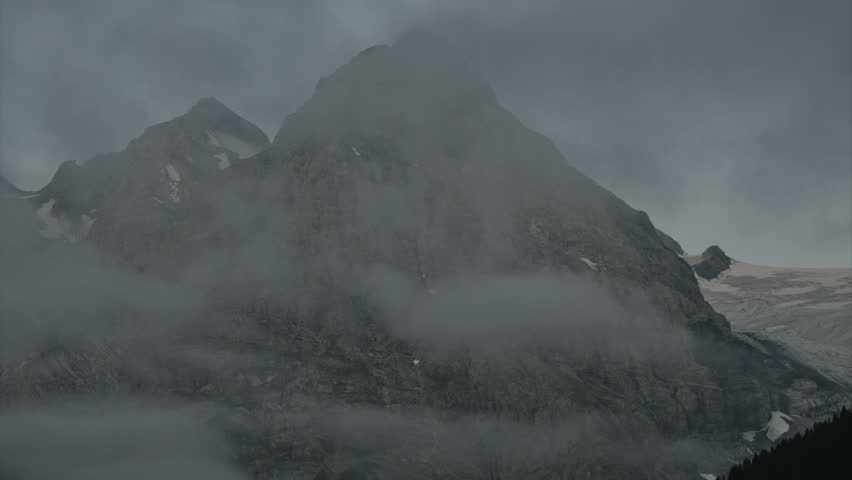 Timelapse of Mount Ortler in the morning.  - HD stock footage clip