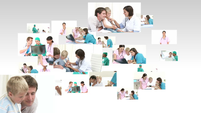 Scene showing many doctors at work in full HD1080   | Shutterstock HD Video #608560