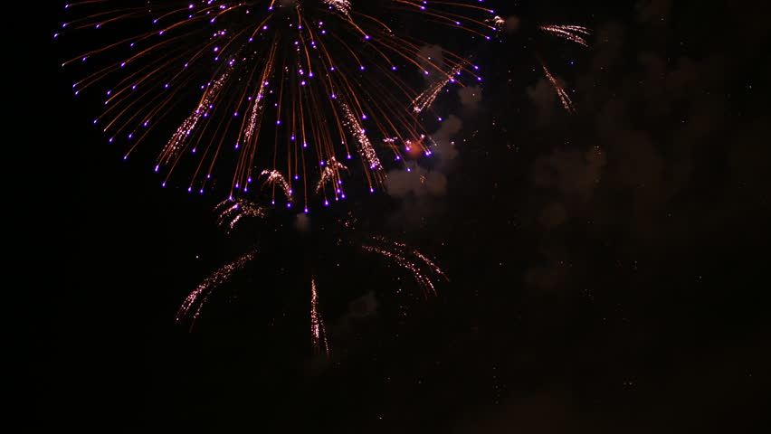 4k timelapse of colourful fireworks display during las fallas festival in valencia, spain