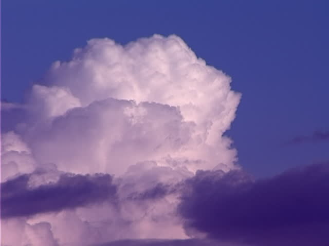 timelapse clouds, video clip in one video footage - SD stock footage clip