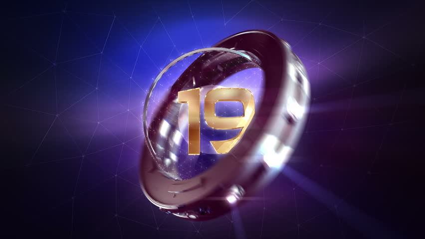 Countdown Ring Animation. 30 second countdown animation for party, new year, tv, and other events. High quality video.