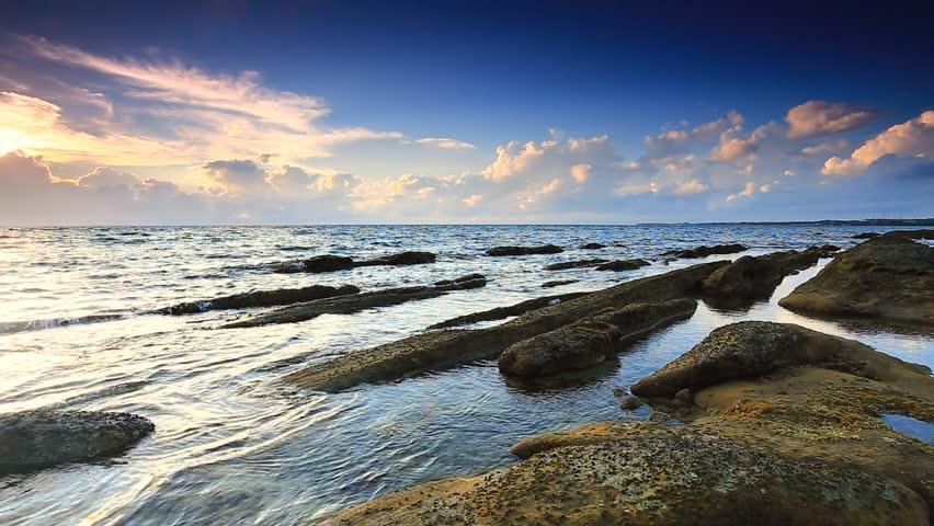 Video Of Kuala Penyu Beach Sunset Sabah Malaysia Stock