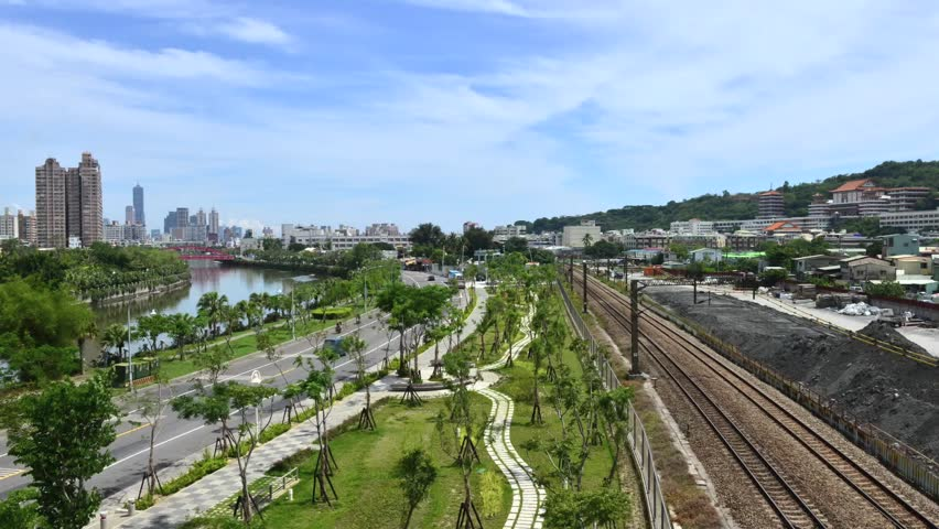 Taiwan 39 S Second Largest City Kaohsiung Stock Footage