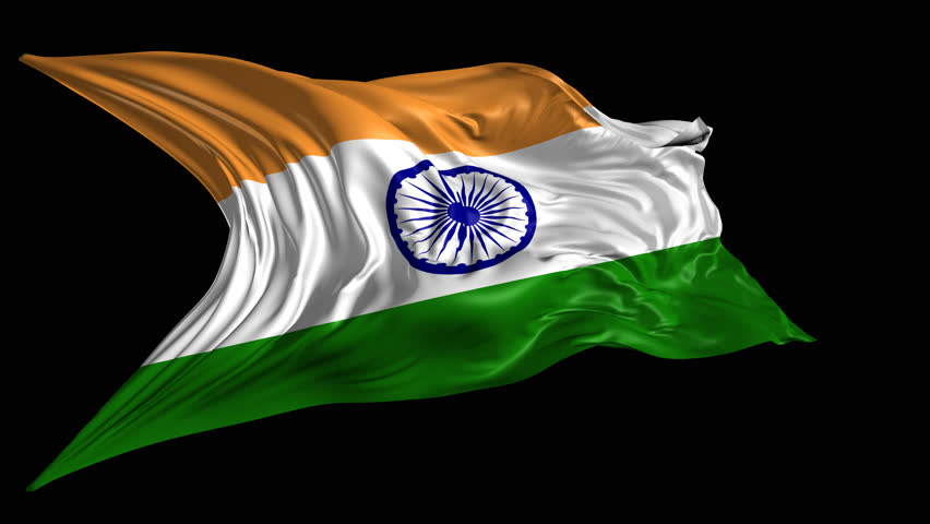 Indian Animated Flag Waving: India Flag Stock Footage Video