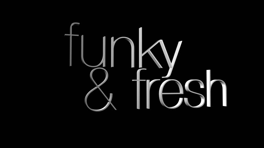 The words funky and Fresh with red glowing falling skulls on them - HD stock footage clip