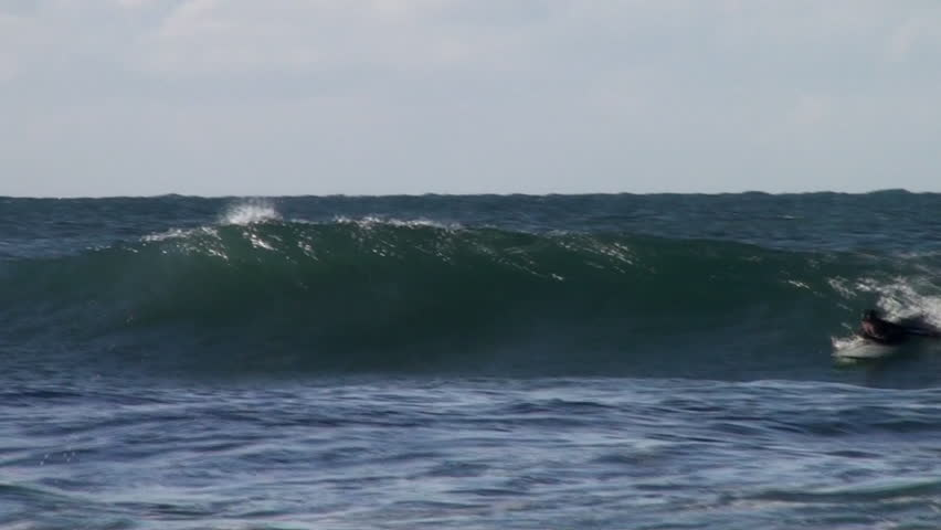 Surfing in Cornwall, England - HD stock video clip