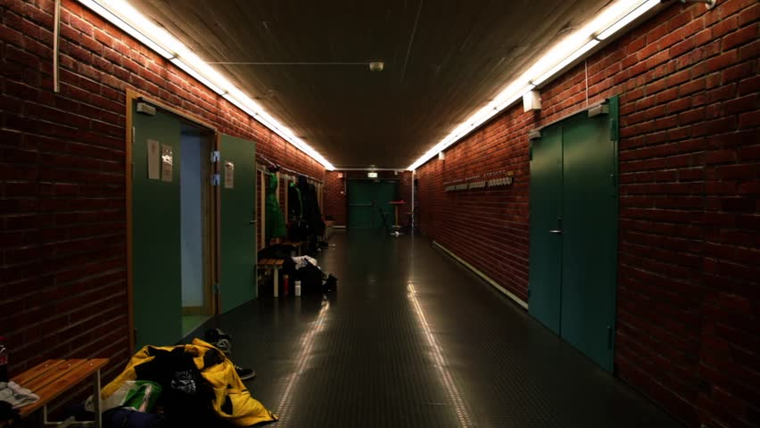 Scary Dark Hall, Hallway in School with Doors