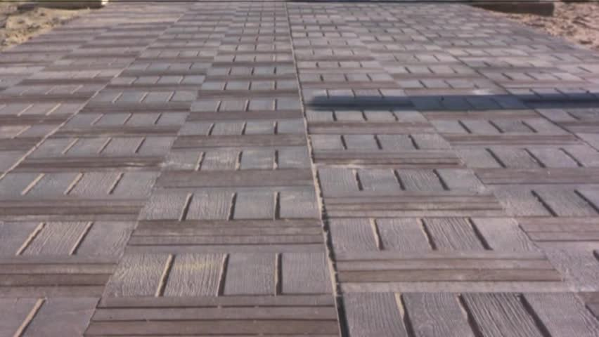 wooden walkway to the beach  - HD stock footage clip