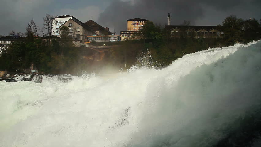 Rhine Falls near Schaffhausen in Switzerland - circa 2012 - HD stock video clip
