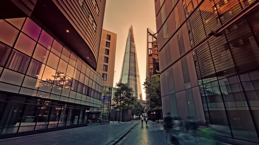 The Shard at London Bridge, 4k, Ultra High Definition, Ultra HD, UHD, reverse