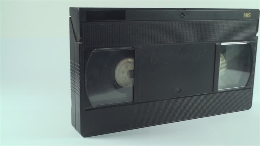 Video Tape Isolated On White, Vintage, Media, Retro, Old, Pan Shot