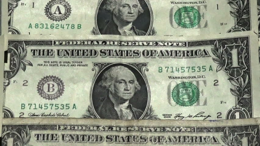 one dollar bills rotating - HD stock video clip