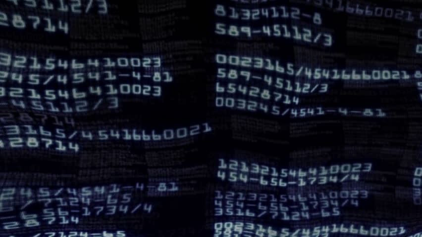 Numbers Textile Background - HD stock video clip