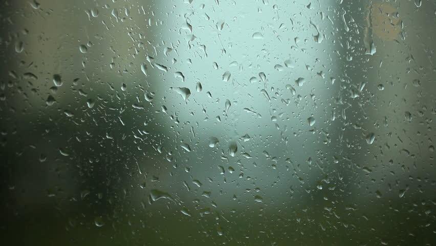 Rain drops on the Window window glass