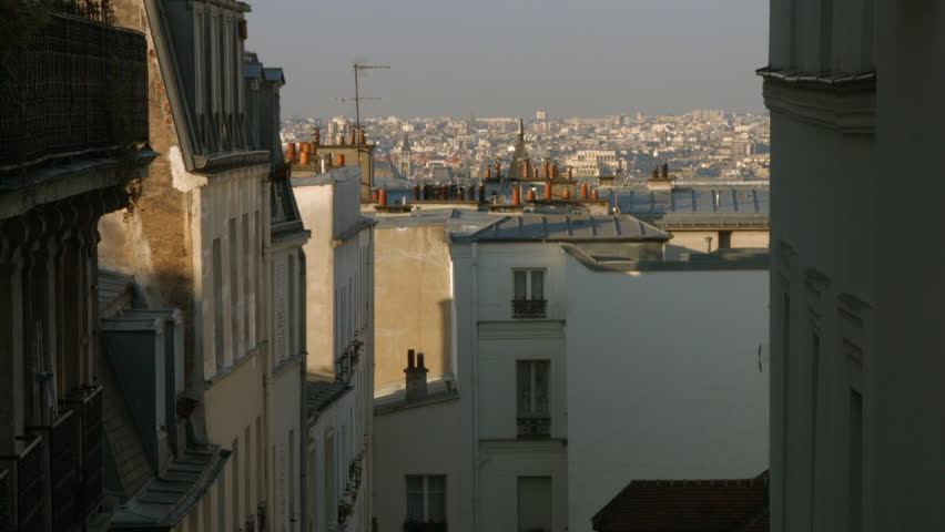 PARIS FRANCE- JULY 2, 2014: The cityscape of Paris from the top Of Martyrs Street, Paris | Shutterstock HD Video #6798913