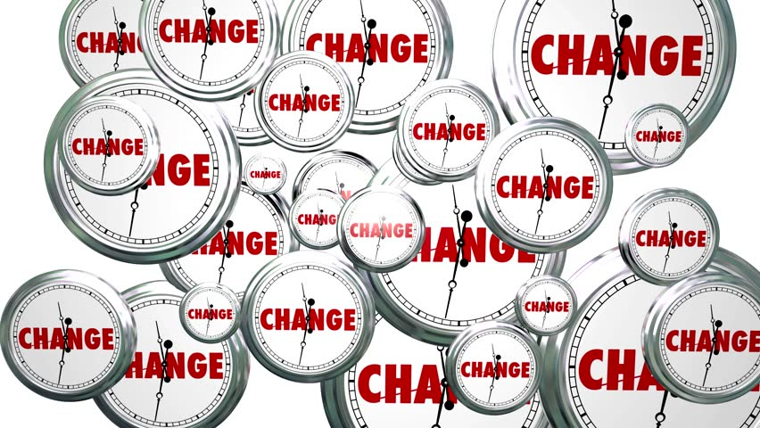 Change Clocks Time Passing By Evolution Innovation Animation Alpha Matte #6816193
