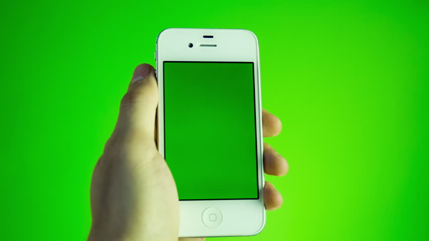 Using smart phone on green screen with various hand gestures, vertikal, close up - green screen | Shutterstock HD Video #6834247