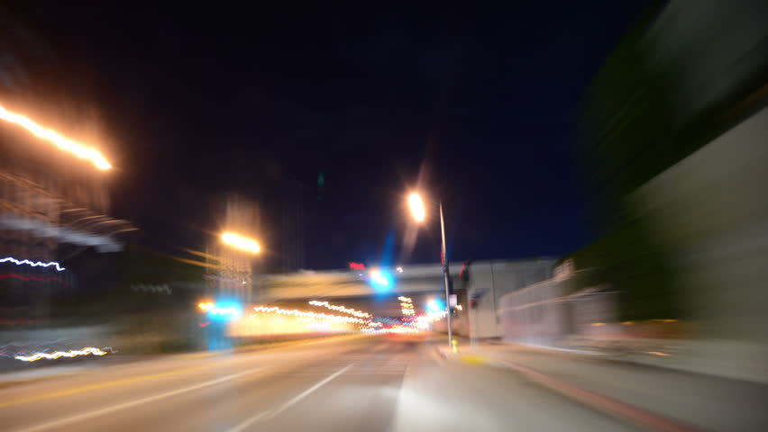 Driving Hyperlapse 29 POV Los Angeles Night Cityscape 2014 | Shutterstock HD Video #6842068