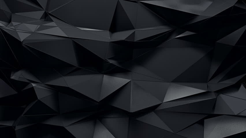 Abstract Dark 3d Rendered Geometric Background With Spikes