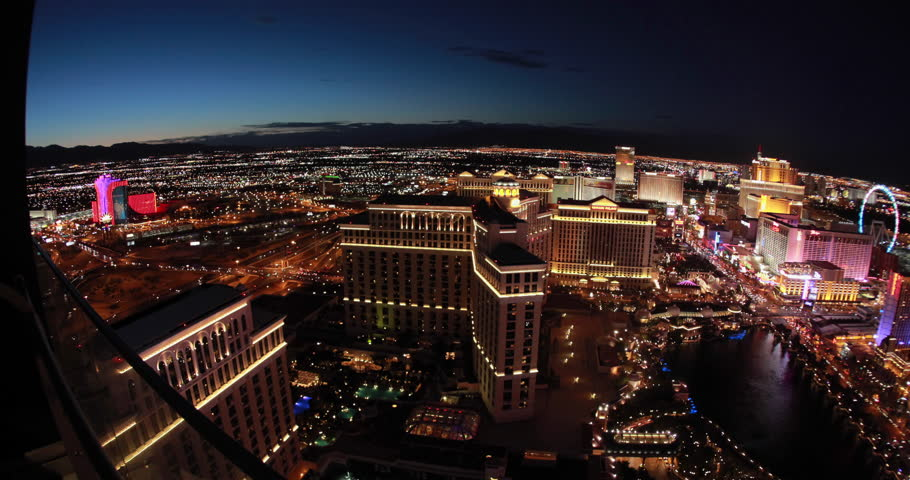 LAS VEGAS - CIRCA JULY 2014: Las Vegas strip evening night neon lights | Shutterstock HD Video #6862579