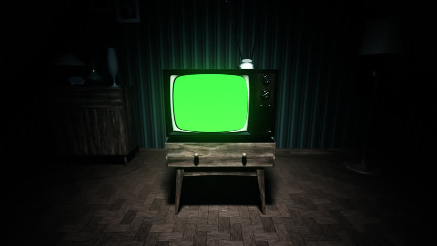 01551 Authentic Static On Old Fashioned TV Screen At Home Green Screen | Shutterstock HD Video #6864217