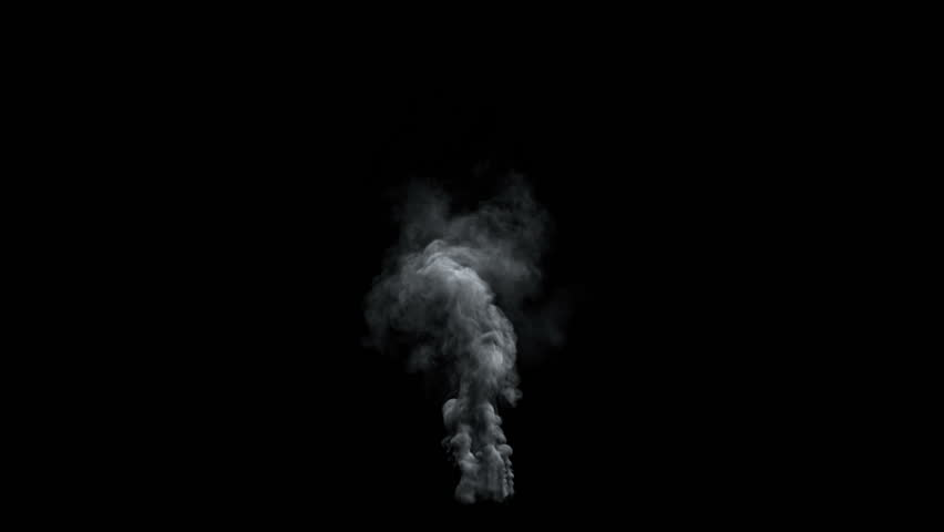 High-detailed dark smoke, with alpha (high definition, 1080p, seamless loop) back lit