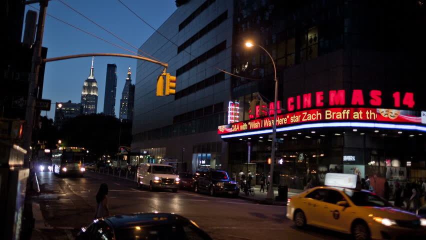 new york july 17 2014 movie theater in manhattan with