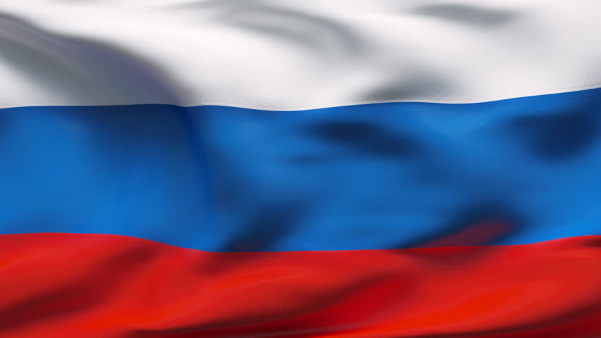 Creased russian satin flag with visible wrinkle and seams - HD stock footage clip