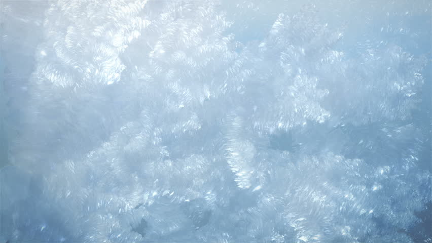 Frost Crystals Forming with Alpha - HD stock footage clip