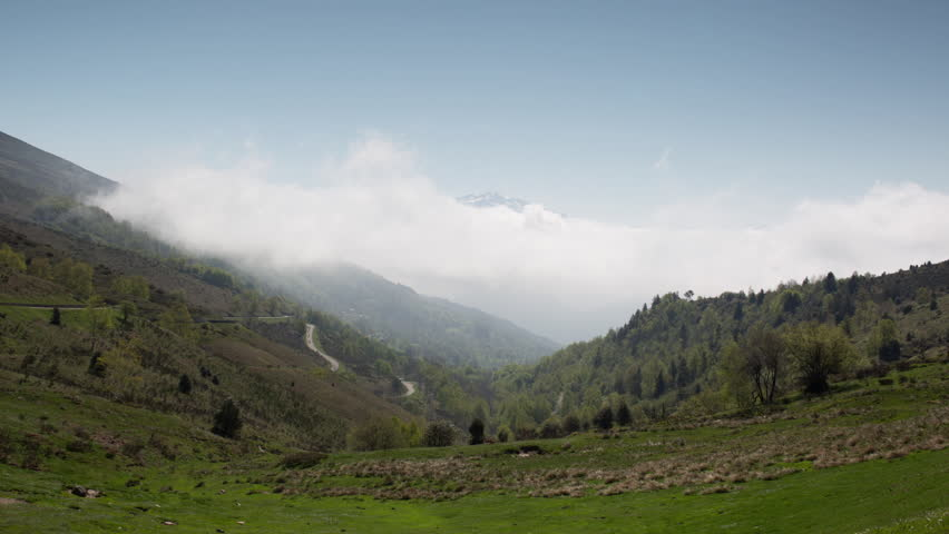 time lapse view from col de port in the french pyrenees