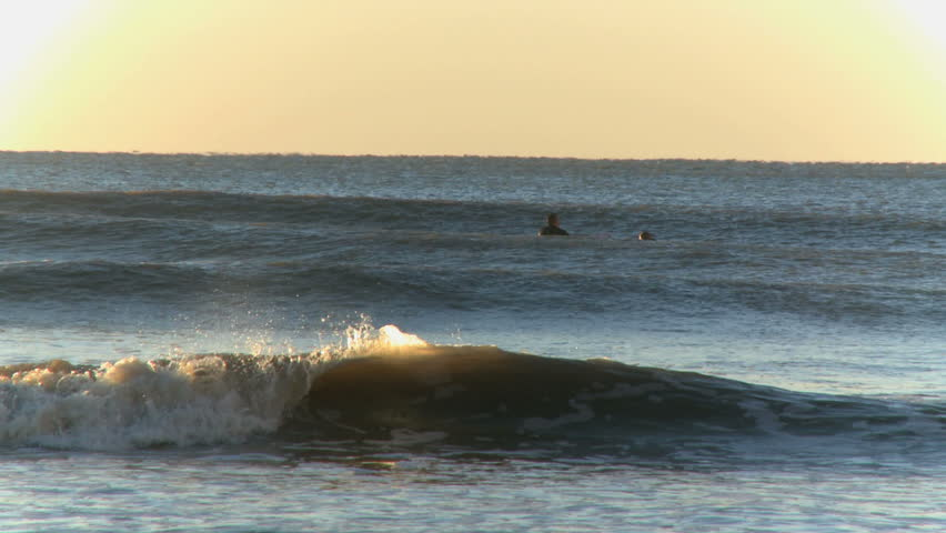 Surfers in the early morning (1 of 6) - HD stock footage clip