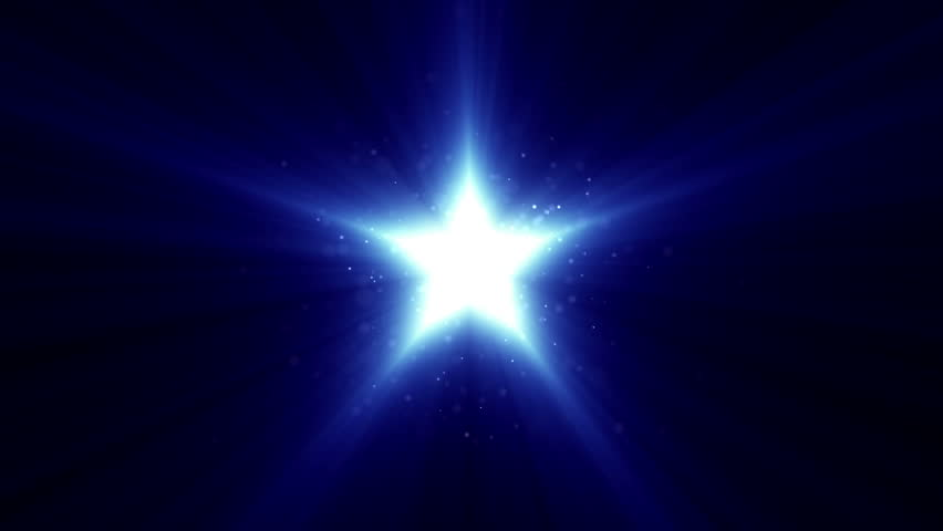 Abstract background with flat icon of star and beams of light. Background of new idea or creative movie. Animation of seamless loop.  - HD stock footage clip