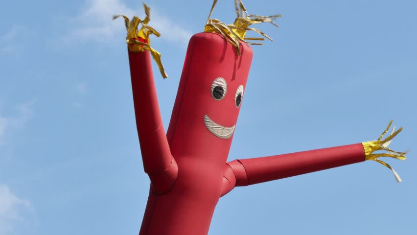 a shot of a red wacky waving inflatable arm flailing tube man 4k stock footage clip. Black Bedroom Furniture Sets. Home Design Ideas
