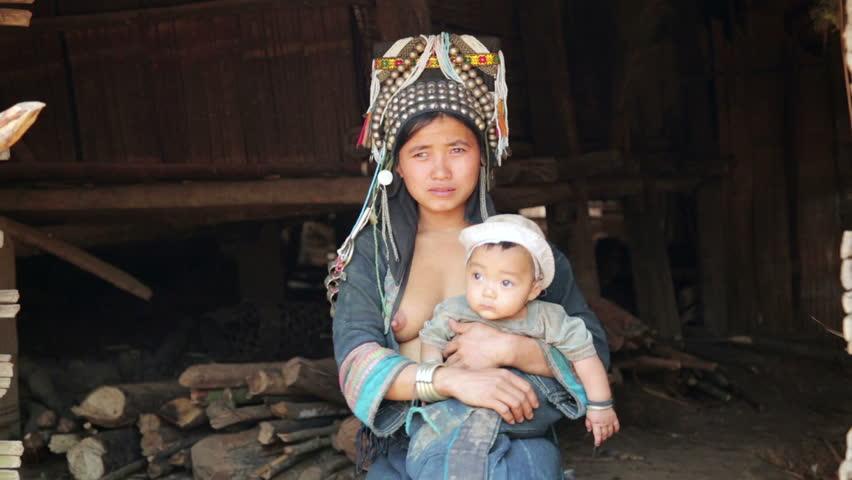 tourist native clip Asian tribe
