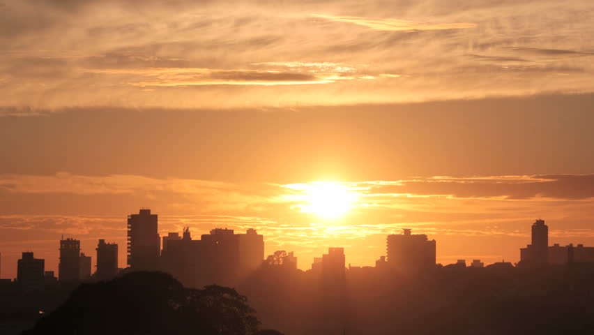 Sunrise Timelapse - Magnificent. View of the city at sunrise | Shutterstock HD Video #6984115