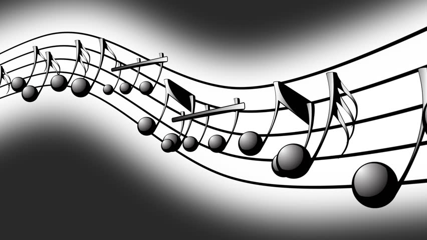 Animated Background With Musical Notes, Music Notes ...
