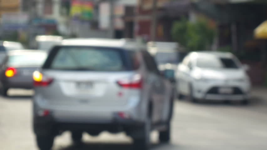 Blurred of car in city | Shutterstock HD Video #7041184