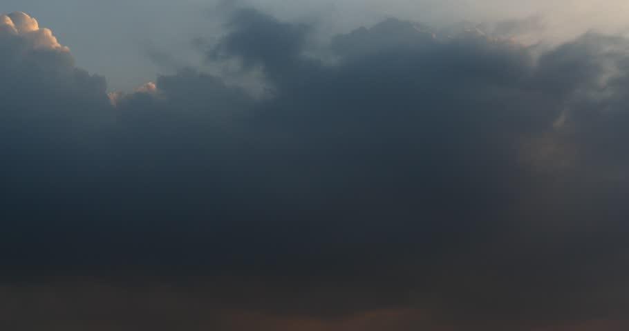 4k Panoramic of dark altocumulus clouds smoke slowly flying in cloudy sky timelapse.high cumulus cloud,mackerel sky. gh2_08571_4k