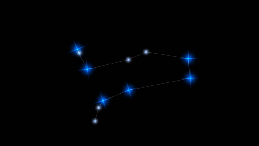 Constellation stars, Gemini. - HD stock video clip