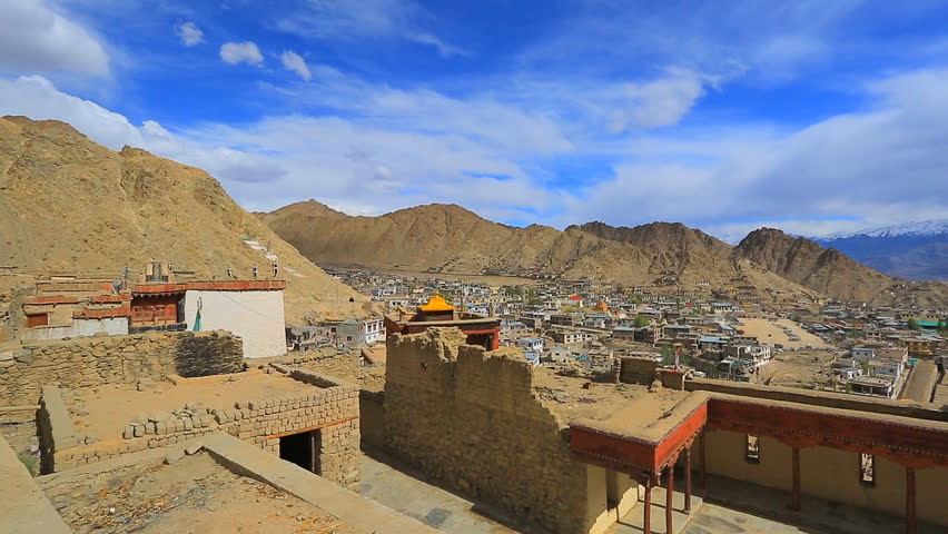view of the courtyard-Namgyal Gonpa - HD stock video clip