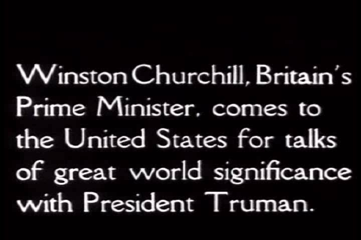 CIRCA 1950s - President Truman and Winston Churchill meet to have vital talks about British-American cooperation.