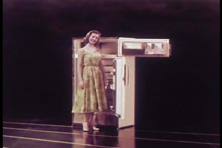 CIRCA 1950s - New appliances from Frigidaire are introduced in 1956.   Shutterstock HD Video #7100269