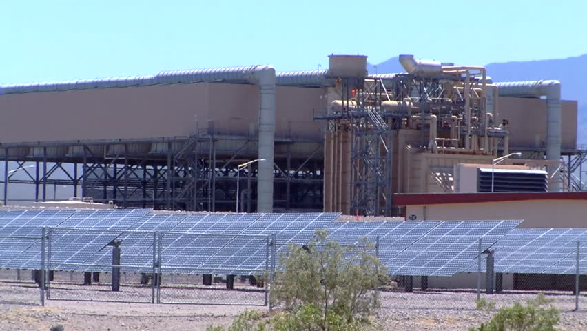 CIRCA 2010s - The Copper Mountain solar farm in Nevada generates clean electricity. - HD stock footage clip
