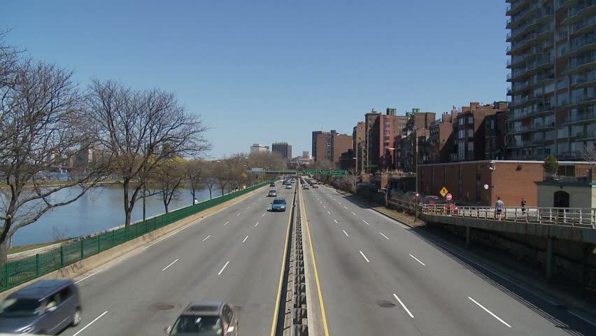 Storrow Drive, Boston - HD stock footage clip