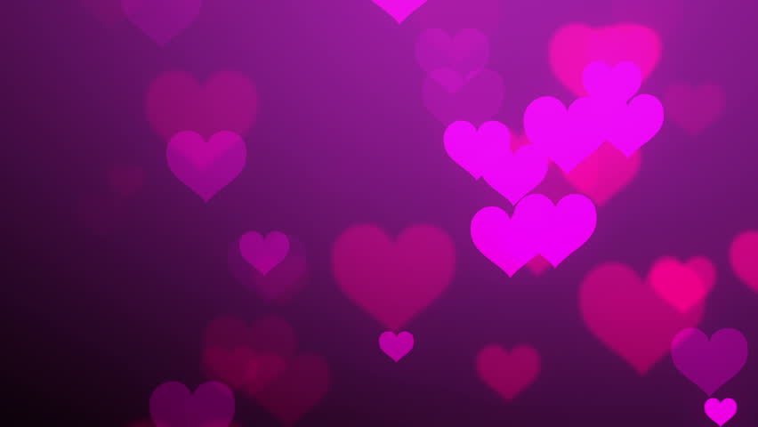 Flying White Hearts Over Pink Background Stock Footage ...