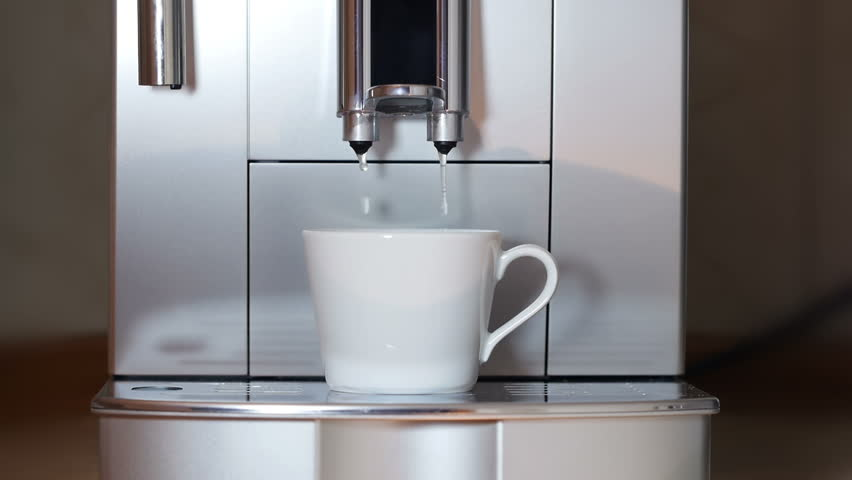 Pouring Hot Water Into Coffee Maker : Coffee Maker Pouring Hot Water. Stock Footage Video ...