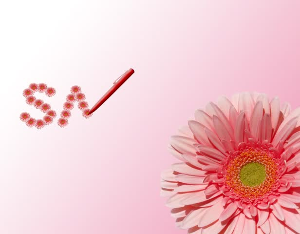 Floral shopping labels.Video